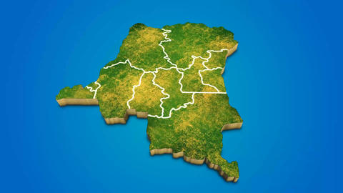 Congo country map satellite camera zoom in sky effect shot visualization After Effects Template