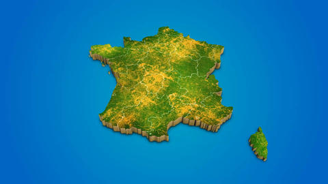 France country map satellite camera zoom in sky effect shot visualization After Effects Template
