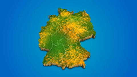 Germany country map satellite camera zoom in sky effect shot visualization After Effects Template