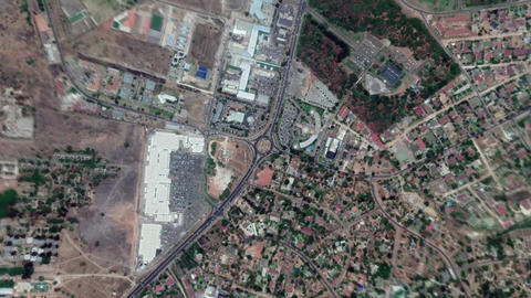 Earth Zoom In Zoom Out Lusaka Republic of Zambia Live Action