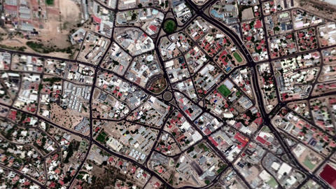 Earth Zoom In Zoom Out Windhoek Republic of Namibia Live Action