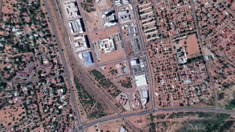 Earth Zoom In Zoom Out Gaborone Botswana Live Action