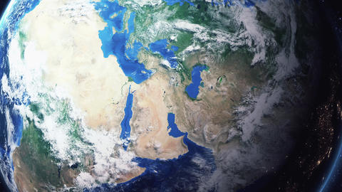 Earth Zoom In Zoom Out Baghdad Iraq Live Action