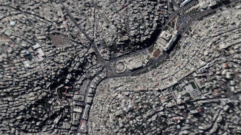 Earth Zoom In Zoom Out Amman Jordan Live Action