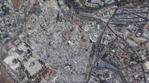 Earth Zoom In Zoom Out Jerusalem Israel Live Action