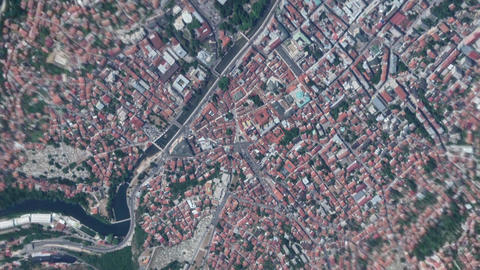 Earth Zoom In Zoom Out Sarajevo Bosnia and Herzegovina Live Action