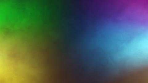 Colorful moving spotlights enlight a dance floor Stock Video Footage