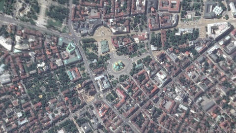 Earth Zoom In Zoom Out Sofia Bulgaria Live Action