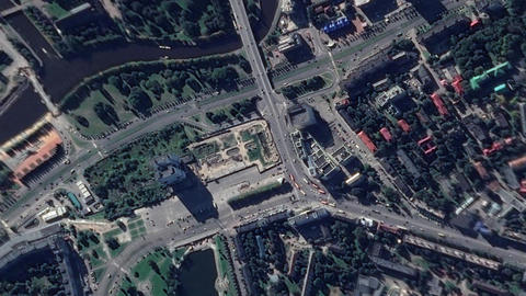 Earth Zoom In Zoom Out Russia Kaliningrad Live Action