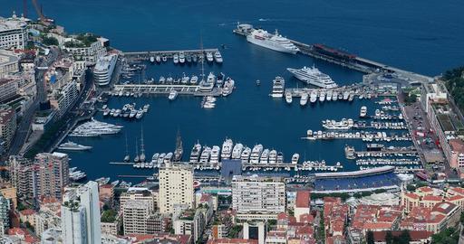 Beautiful Panoramic Aerial view of Port Hercule And Monte-Carlo in The GIF