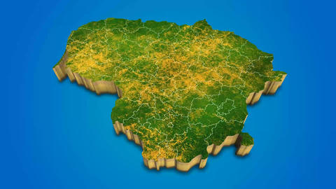 Lithuania country map satellite camera zoom in sky effect shot visualization After Effects Template