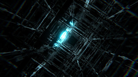 Techno Grid Space VJ Animation