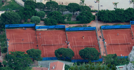Aerial View Of Tennis Court In Monaco 영상물