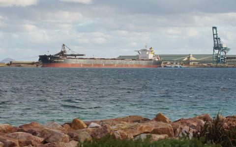 Global trade logistics, Bulk carrier Fotografía