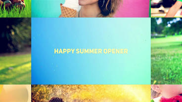 Happy Summer Opener After Effects Template