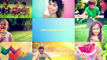 Happy Summer Opener After Effectsテンプレート