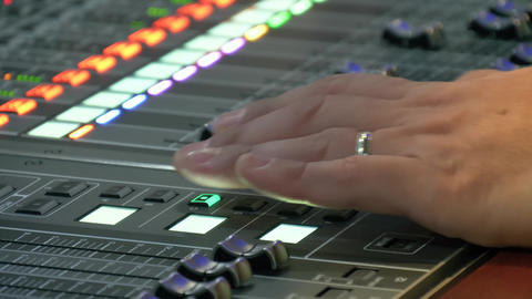 Sound control panel professional Footage