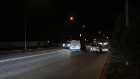 Night city road Footage