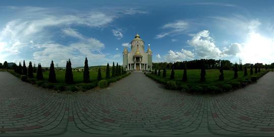 360 vr beautiful church cloudy GIF