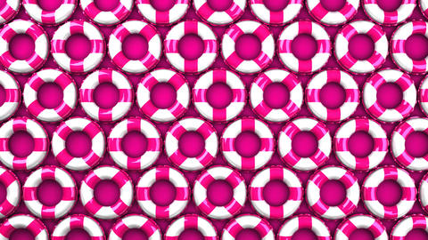 Pink swim rings on pink background Animation