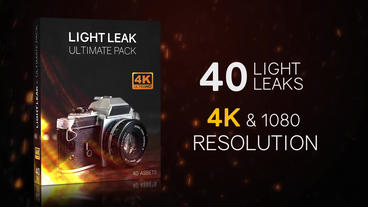 40 Light Leaks - Ultimate Pack Plantilla de After Effects