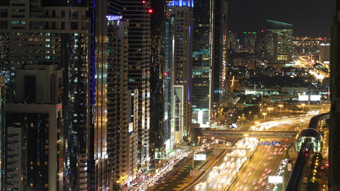 time lapse from the roof on main street in dubai Footage