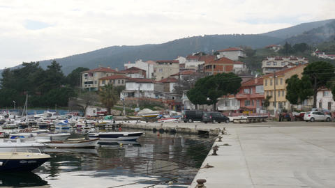 NARLI, KUMLA, GEMLIK, BURSA, TURKEY - MARCH 2015: fishing village Footage