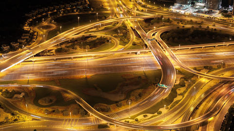 high traffic crossroads time lapse in dubai city Footage