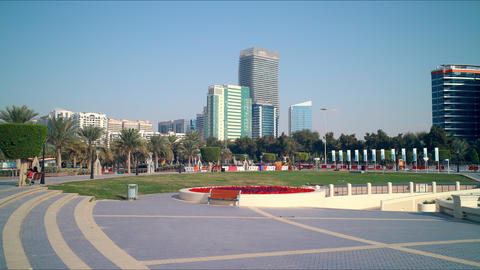 abu dhabi walking bay time lapse Footage