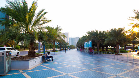 Tourist Street Time Lapse From Abu Dhabi stock footage