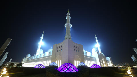 4k time lapse from uae main mosque Footage