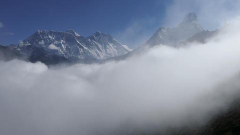 Everest Lhotse Ama Dablam Peaks Himalayas Mountains 4k Footage