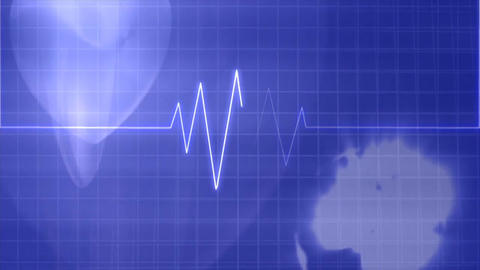 Heart pulse lifestyle medical Stock Video Footage