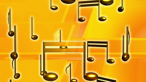 Music yellow notes musical audio Footage