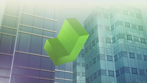 Tetris building blocks city future Footage
