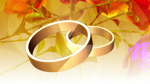 Wedding rings gold romantic love Stock Video Footage