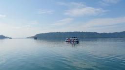 Boat trip at Nam Ngum Lake in Laos Footage