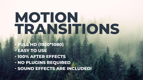 Motion transitions After Effects Template