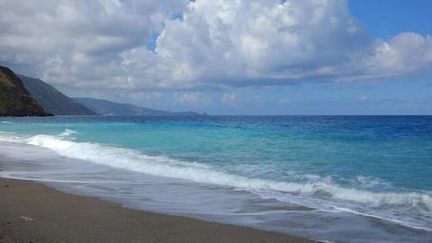 Sea waves on beach Footage