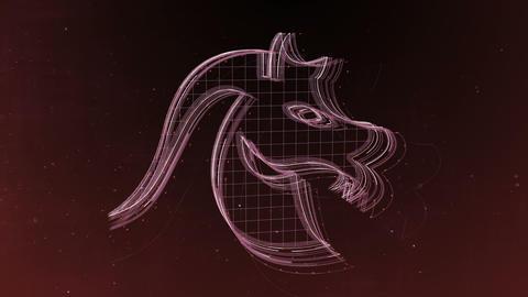 Zodiac signs Capricorn and beautiful background for presentations, video intro, 애니메이션