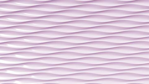 Pink plastic waves, 3D rendering フォト