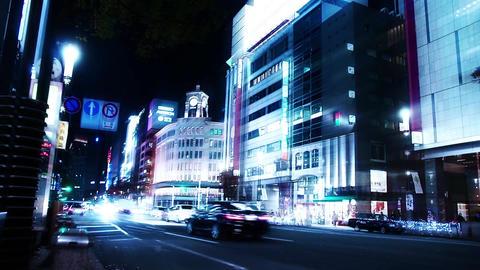 銀座4丁目交差点を行きかう車 ライブ動画