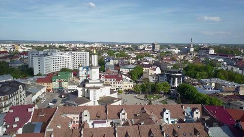 Ivano-Frankivsk city hall, aerial 영상물