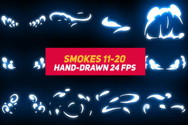 Liquid Elements 2 Smokes 11-20 After Effects Template