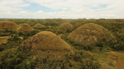 Chocolate Hills in Bohol, Philippines, Aerial view フォト