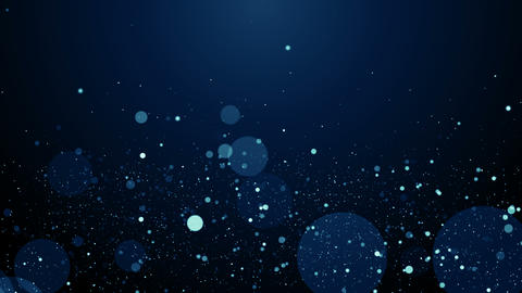 Particles blue bokeh dust abstract light motion titles cinematic background loop Animación