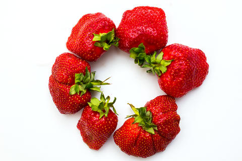 Strawberry isolated on white background. Clipping Path フォト