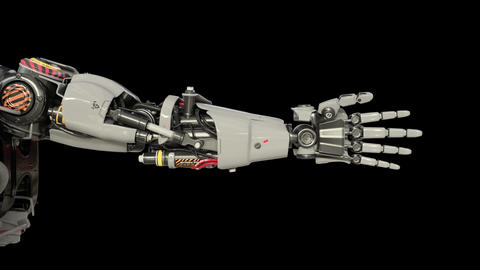 Bionic Arm showing its functionality GIF