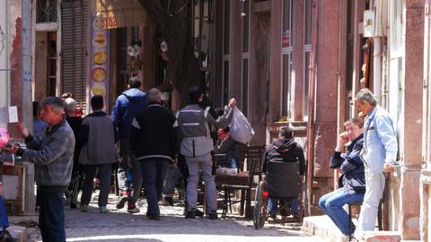 AYVALIK, TURKEY - MAY 2015: traditional turkish houses, travel destination Live Action