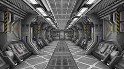In the SpaceShip 4K CG動画